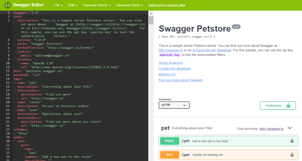 scaleyourapp.com Swagger Editor